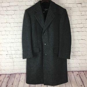 London Fog Mens Gray Wool Coat Sz.38R